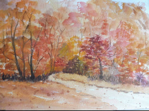 Autumn Wood Original Water Colour
