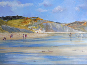 Charmouth Beach Acrylic Original