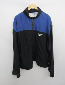 Retro Reebok Jacket Blue and Black 80s-90s