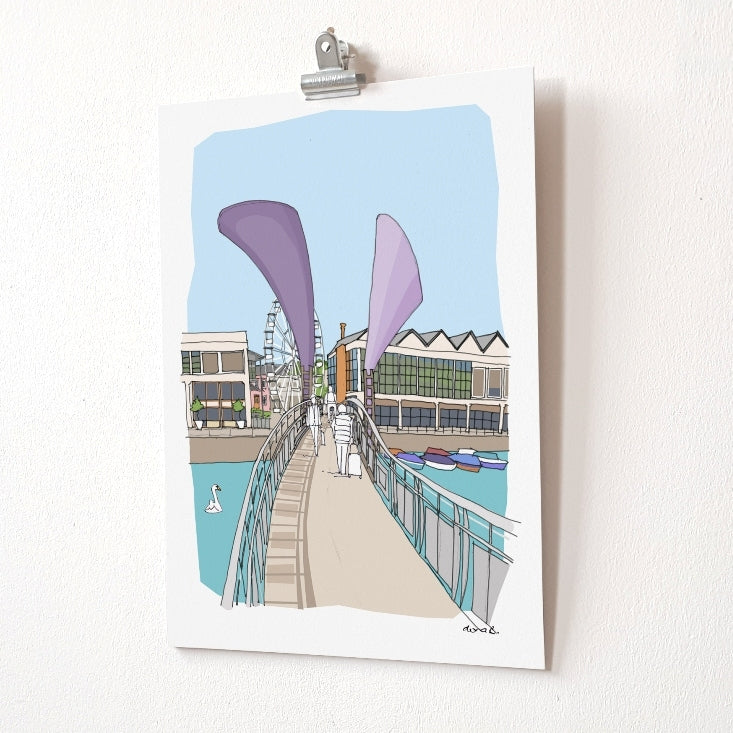 A4 print - Pero's Bridge by dona B drawings