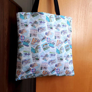 Tote Bag - Floating Bristol by dona B drawings
