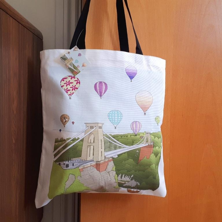 Tote Bag - Gorgeous Bristol by dona B drawings