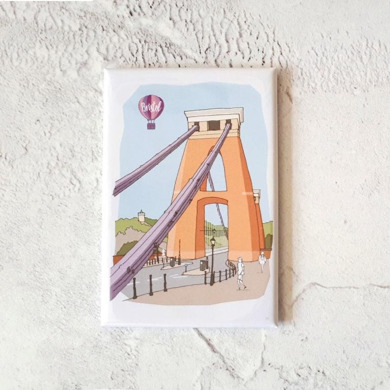 Magnet - Suspension Bridge by dona B drawings