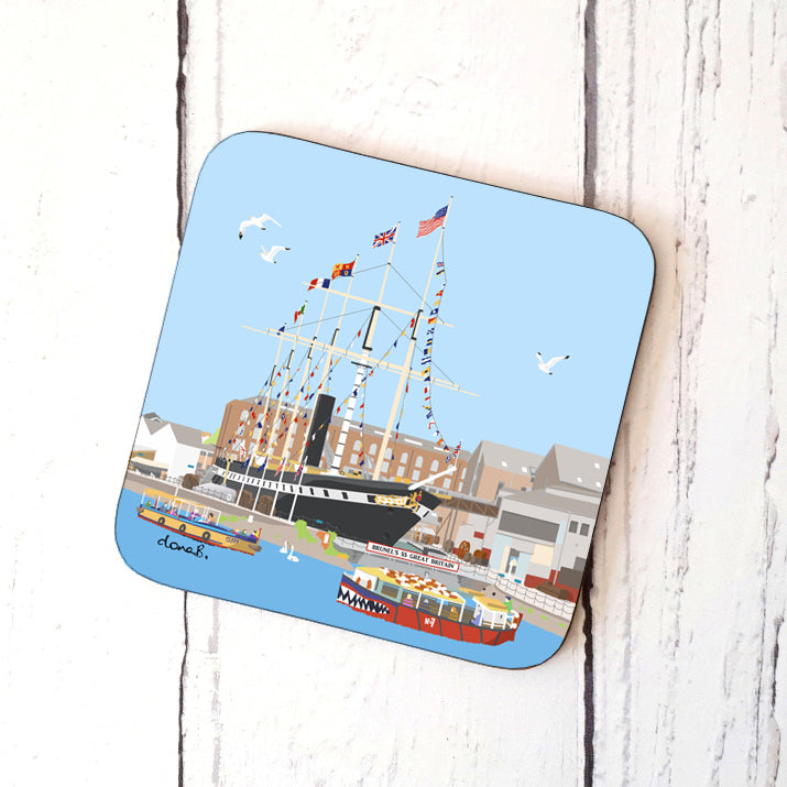 Coaster - Floating Bristol by dona B drawings