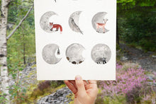 Load image into Gallery viewer, Moon Phase / Lunar Cycle Giclée Print