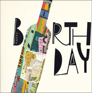 Woodmansterne Wine Bottle Birthday Card