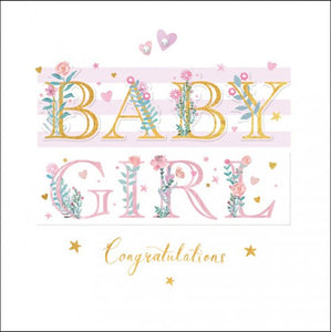 Woodmansterne New Baby Girl Card