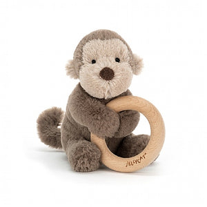 Shooshu Monkey  Wooden Ring Toy