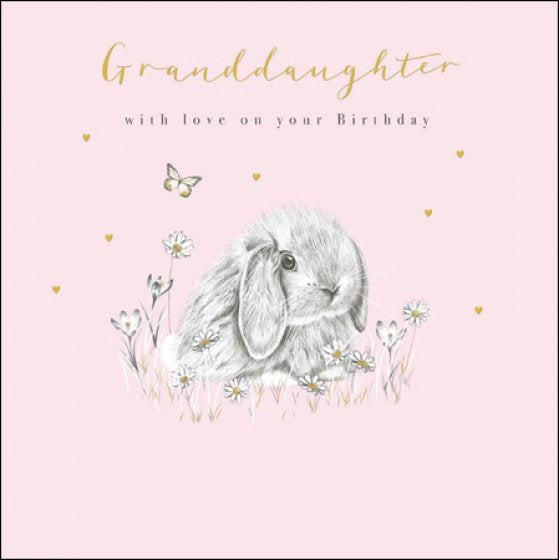 Granddaughter with love on your birthday