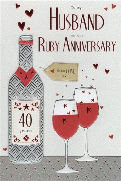 To my Husband on our Ruby Anniversary