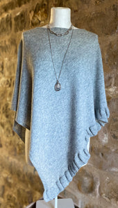 Lara Cashmere Mix Poncho in Dove