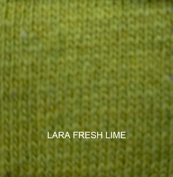Lara Cashmere Mix Poncho in Fresh Lime
