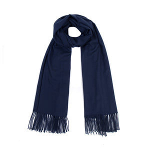 Luxury Super Soft Pashmina Scarf - French Navy