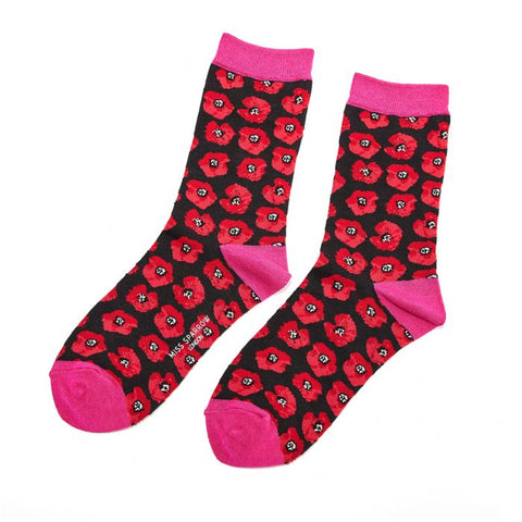 Poppies Socks Black