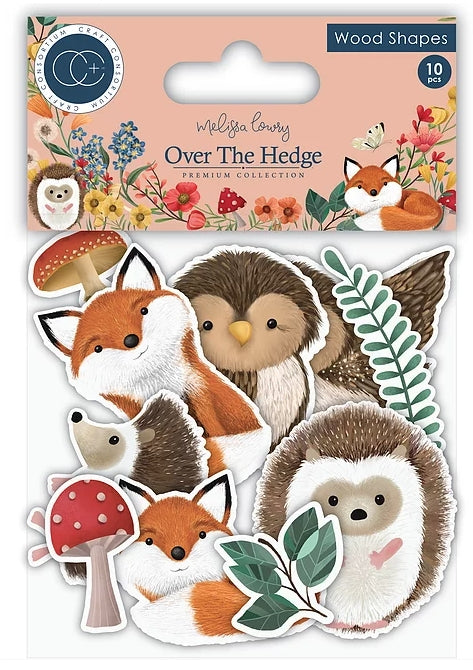 Over the Hedge Printed Wood Shapes