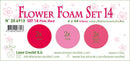 Flower Foam Set 14, 6 Sheets A4 3X2 Pink-Red Colours