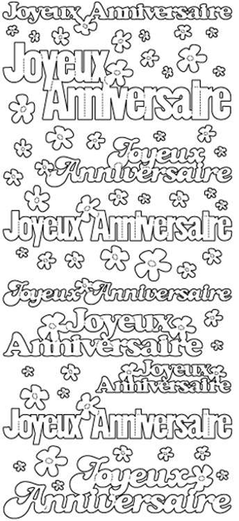 Peel-Off Stickers - Joyeux Anniversiare