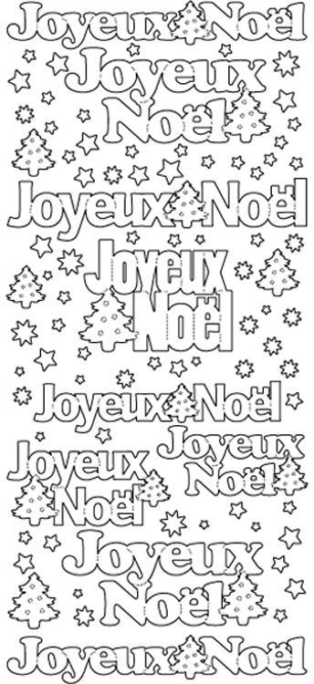 Peel-Off Stickers - Joyeux Noel