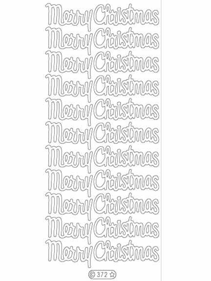 Deco Stickers - Large Merry Christmas