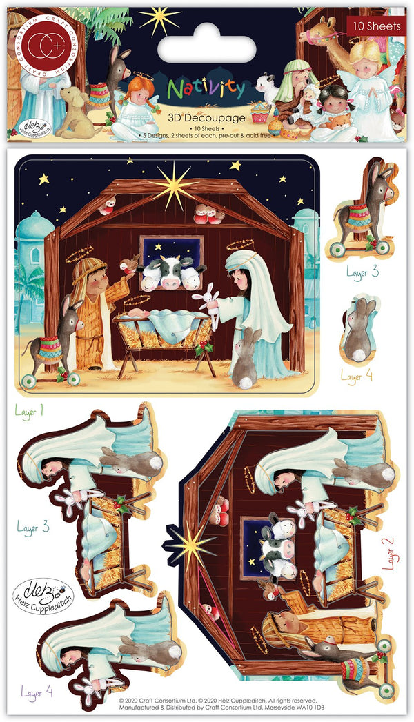 Nativity 3D Decoupage