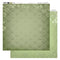 12x12 Patterned Paper  - Green Damask - Vintage Rose Collection (5)