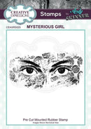 Creative Expressions Andy Skinner Mysterious Girl Rubber Stamp