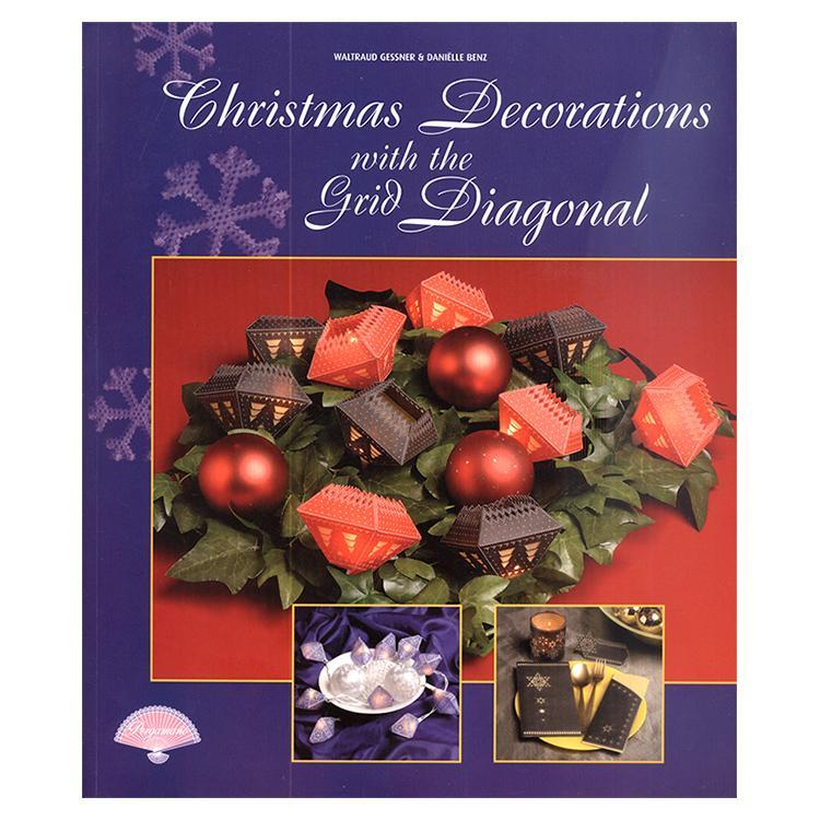 Pergamano Book Christmas Decorations with Diagonal Grid