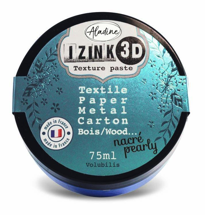 Aladine IZINK 3D Texture Paste Pearly 75 Ml