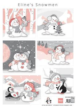 Cutting Sheet Eline's Snowmen A4