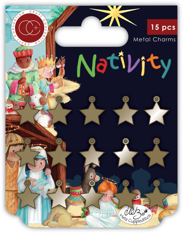Nativity Metal Charms - Stars