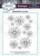 Andy Skinner Smashed Glass Rubber Stamp