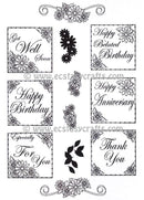 Creative Expressions: Daisy Everyday Sentiments Clear Stamp Set