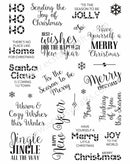 Santa's Sentiments A5 Clear Stamp Set