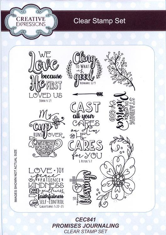 Creative Expressions - Promises Journaling Clear Stamp Set