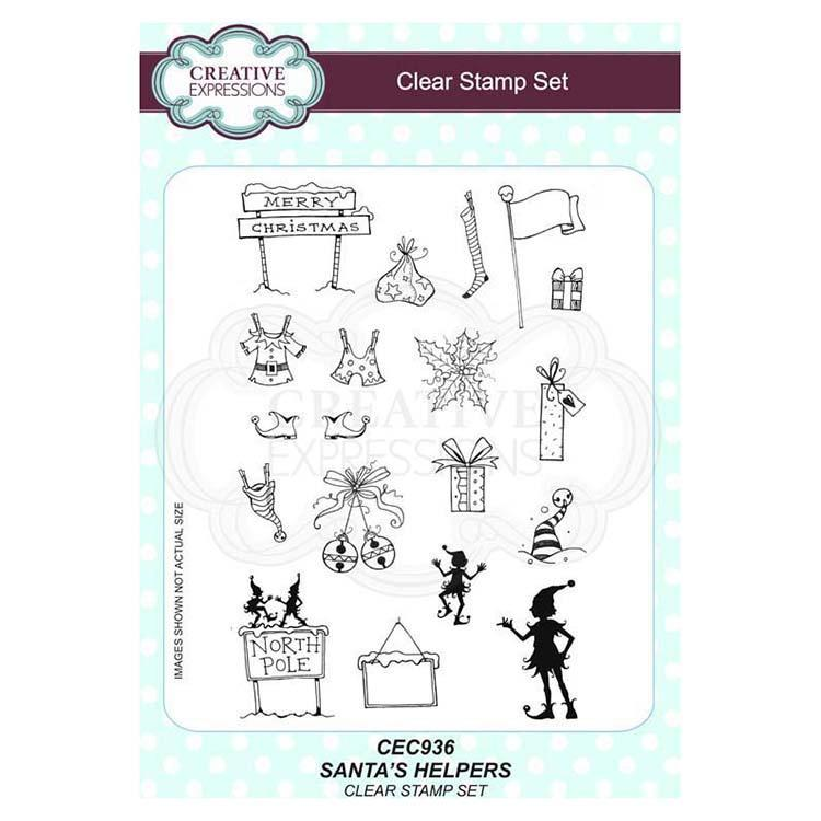 Creative Expressions Santas Helpers A5 Clear Stamp Set