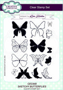 Sketchy Butterflies A5 Clear Stamp Set