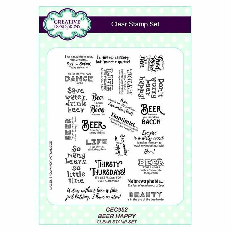 A5 Clear Stamp Set Beer Happy