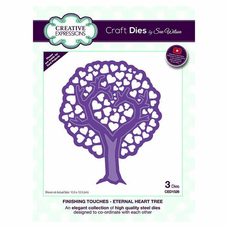 Dies by Sue Wilson Finishing Touches Collection Eternal Heart Tree