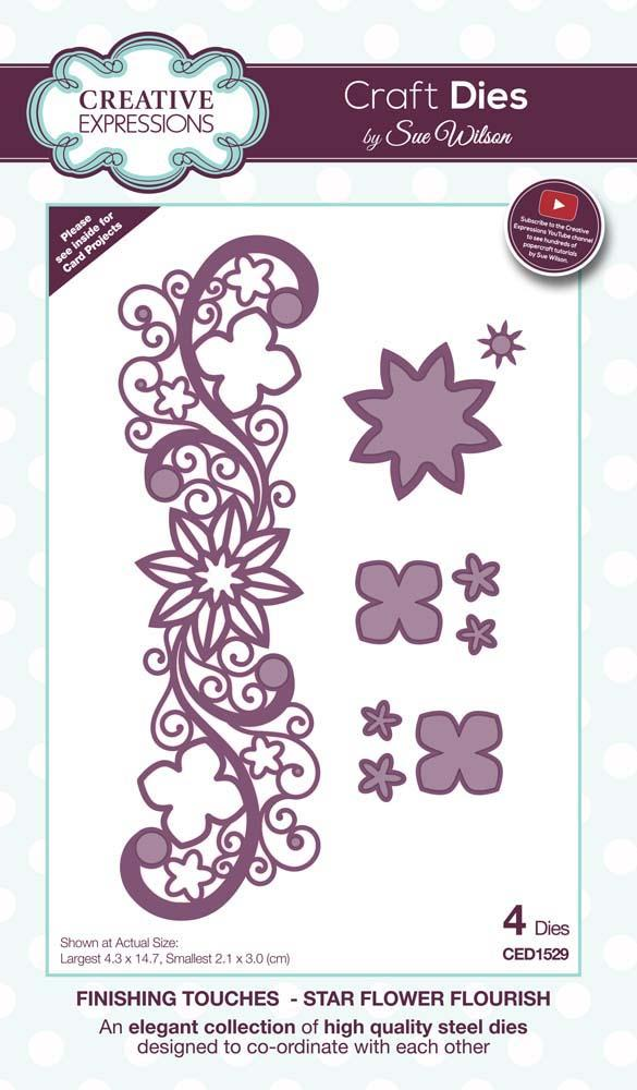 Dies by Sue Wilson Finishing Touches Collection Star Flower Flourish