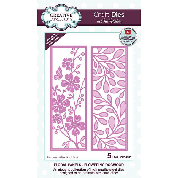 Creative Expressions Sue Wilson Floral Panels Dogwood Craft Die