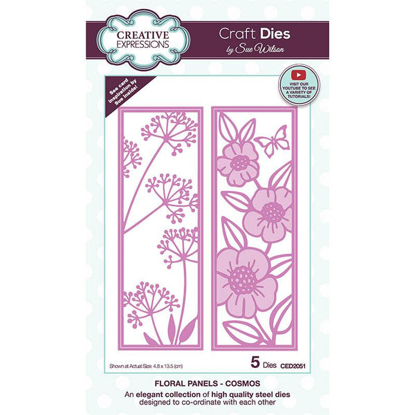 Creative Expressions Sue Wilson Floral Panels Cosmos Craft Die