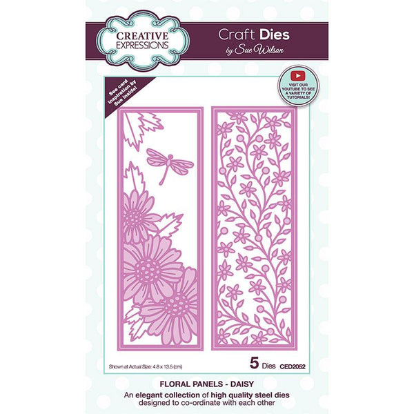 Creative Expressions Sue Wilson Floral Panels Daisy Craft Die