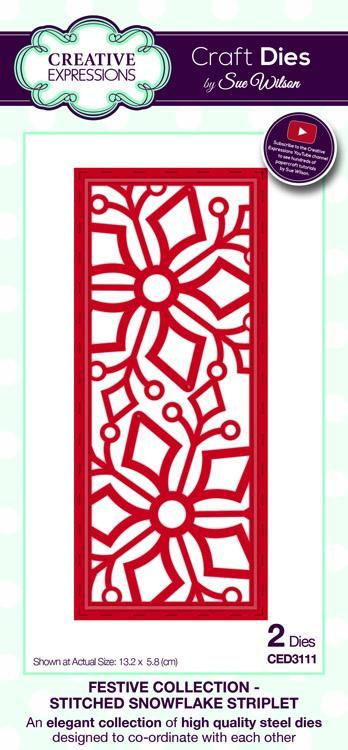 Festive Collection Stitched Snowflake Striplet