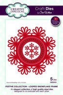 Festive Collection Looped Snowflake Frame Die