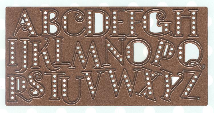 Expressions Art Deco Alphabet - Upper Case