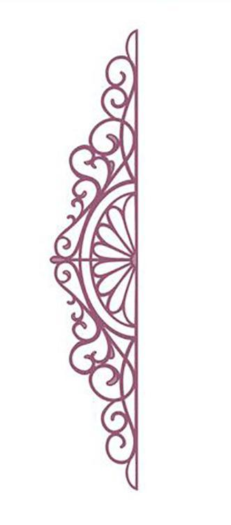 Configurations Charming Lace Trim Die