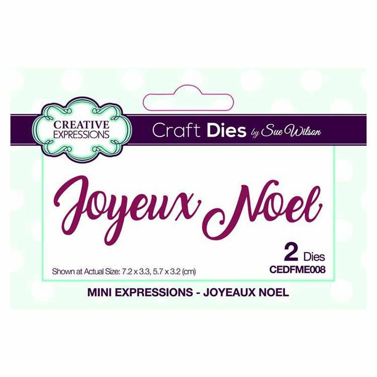 Dies by Sue Wilson Mini Expressions Collection Joyeux Noel