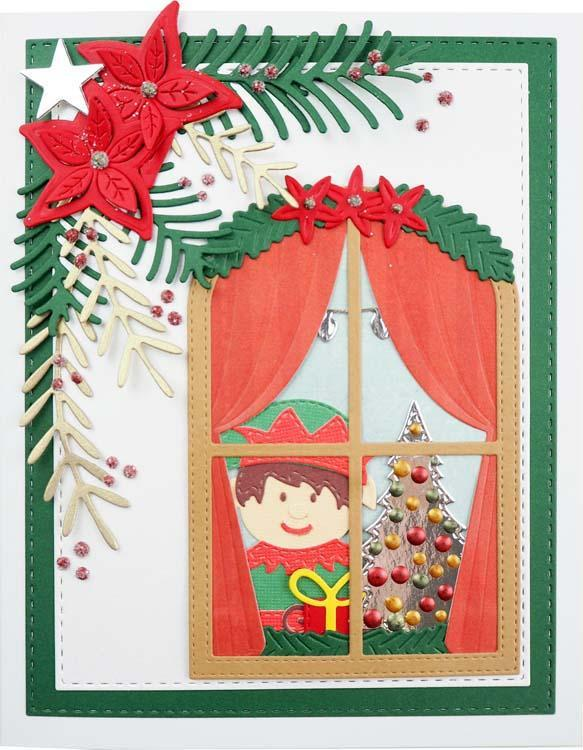 Stitched Collection Christmas Window Craft Die