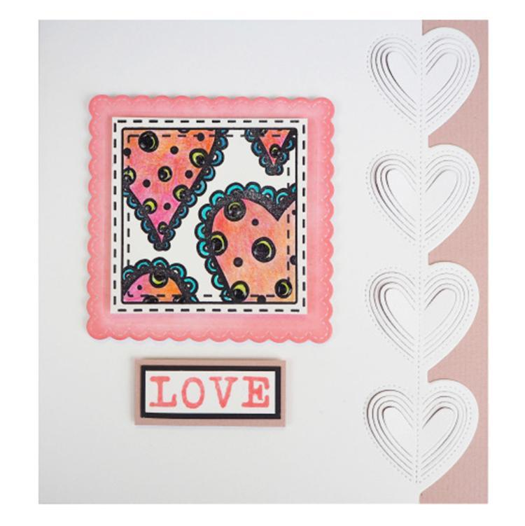 Creative Expressions Cut and Lift Collection Heart String Edger
