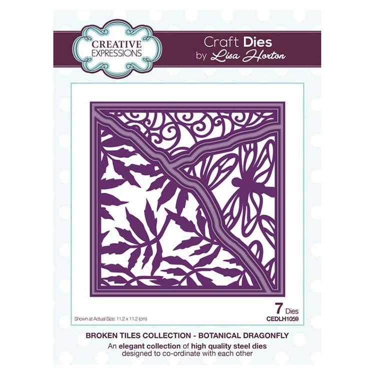 Creative Expressions Broken Tiles Collection Botanical Dragonfly